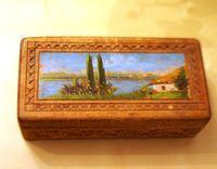Шкатулка деревянная с росписью